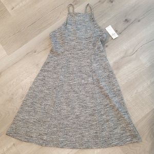 new hollister racerback lace up gray dress xs